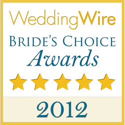 WeddingWire Couples' Choice Awards 2012 Winner