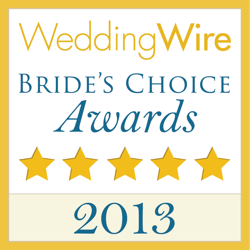 WeddingWire Couples' Choice Awards 2013 Winner