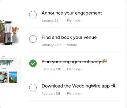 important wedding checklist items