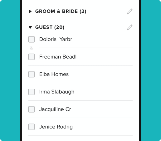 tracking different types of guest groups