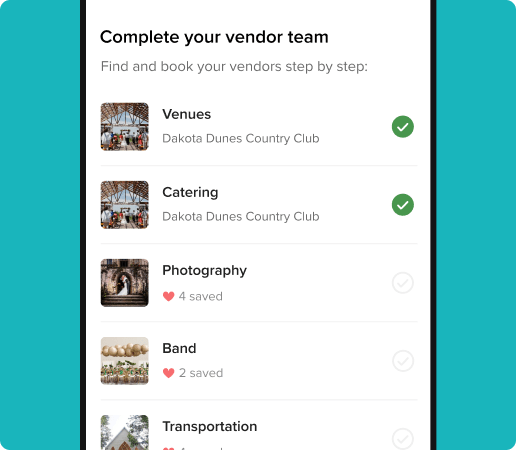 list of vendors in the vendor manager app