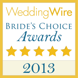 World Renown, WeddingWire Couples' Choice Award Winner 2013