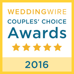 Bold, Beautiful and Beyond Weddings, LLC., WeddingWire Couples' Choice Award Winner 2016